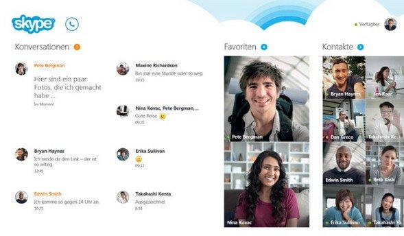 Skype auf Windows 8
