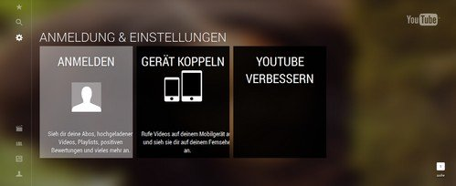 youtube-tv mit smartphone