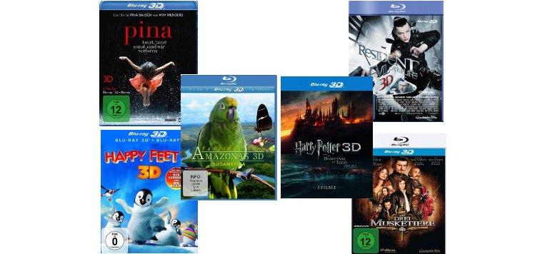 3D-Blu-rays um bis zu 40 % reduziert bei Amazon