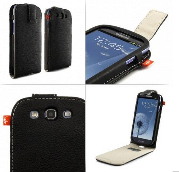 Alu-Leder Hülle Samsung Galaxy S3