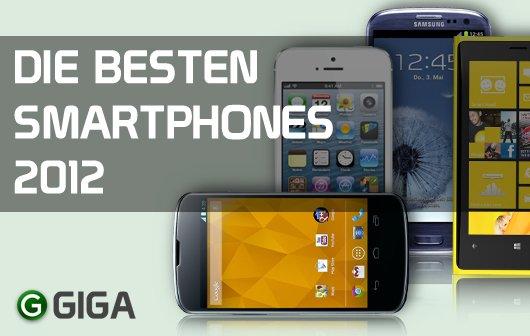 Die besten Smartphones 2012 - Infografik