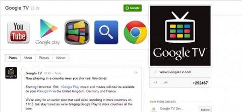 Google TV Akündigung
