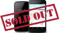 Google Nexus 4: Käufer müssen mehrere Wochen auf das Smartphone warten