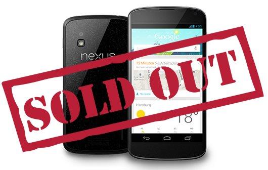 Nexus 4 und 10 ausverkauft: Googles Probleme (Kommentar) Update