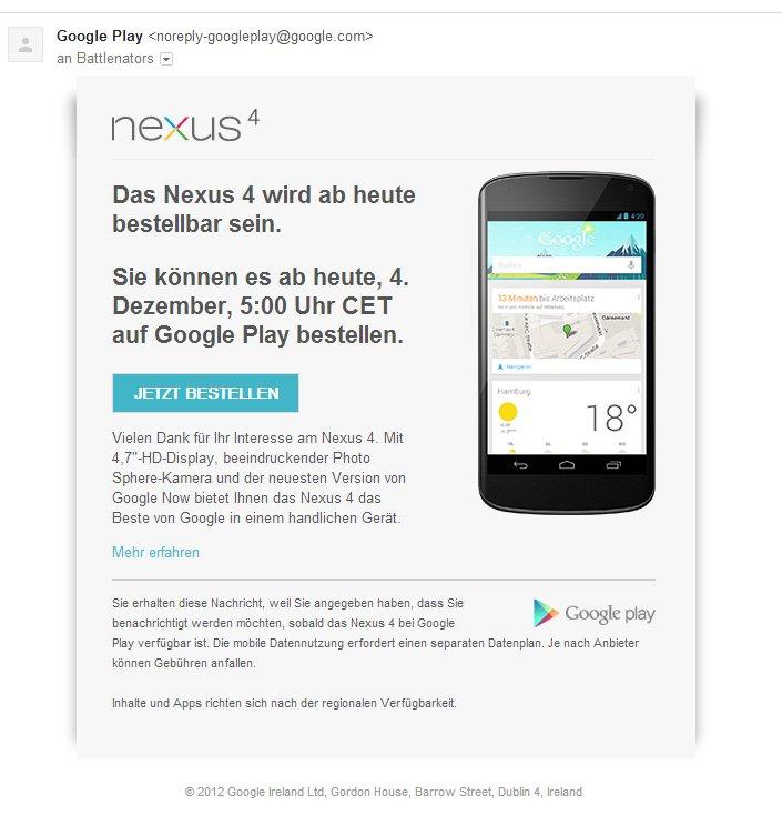 Nexus-4-vorbestellung