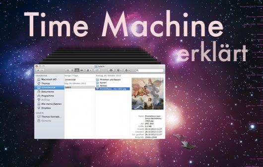 Backup mit Time Machine in OS X 10.8 Mountain Lion erklärt