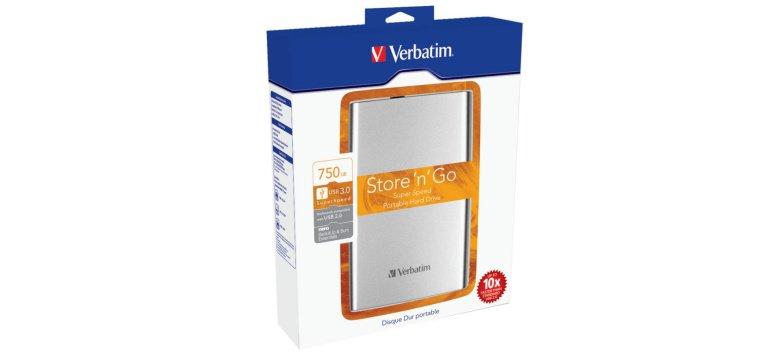Verbatim Store 'n' Go externe Festplatte 750 GB für 64,90 Euro