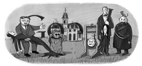 Addams-Family-Doodle