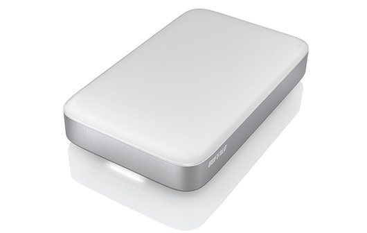 Thunderbolt-SSD von Buffalo: Ganz klein, ganz weiß