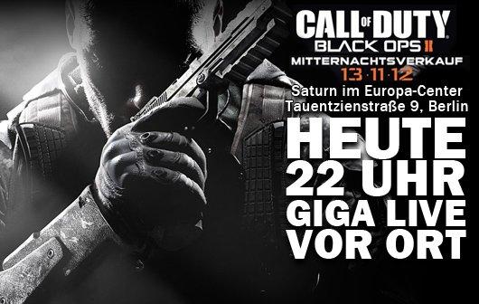 Call of Duty: Black Ops 2 Mitternachtsverkauf – GIGA LIVE vor Ort