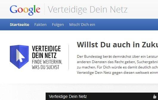 WTF Leistungsschutzrecht? Google startet Lobby-Kampagne