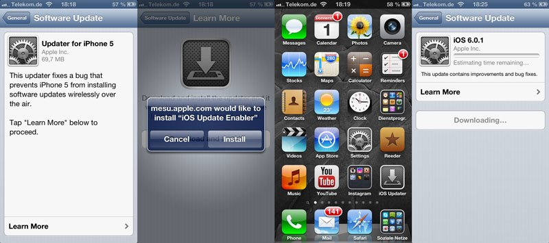 iOS 6.0.1 Updater für iPhone 5