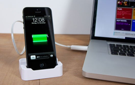 iphone 5 dock im test gewinnspiel giga. Black Bedroom Furniture Sets. Home Design Ideas