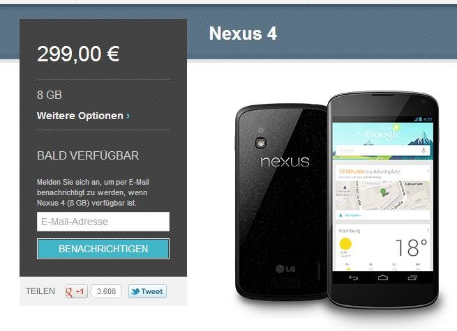 nexus-4-ausverkauf