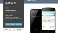 Google Nexus 4 ab jetzt im Play Store erhältlich