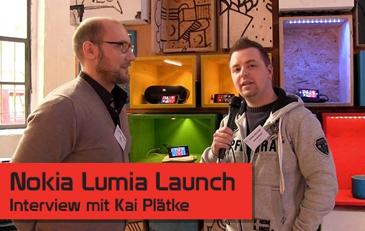 Nokia Lumia Event in Berlin - Interview mit Kai Plätke