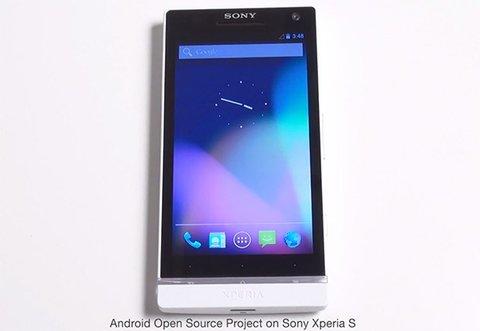 Sony Xperia S mit AOSP