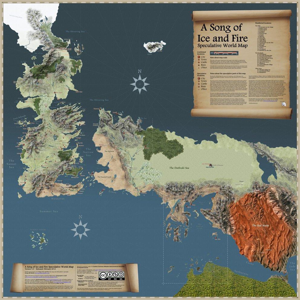 Game of Thrones-Landkarte