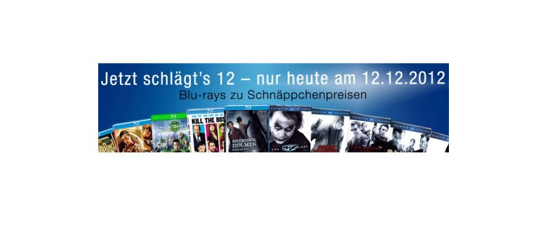 Am 12.12.2012: Blu-rays zum Schnäppchenpreis bei Amazon
