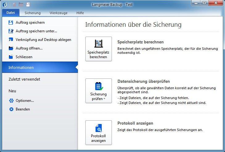 Mit Langmeier Backup könnt ihr Datensicherungen auch prüfen und protokollieren.