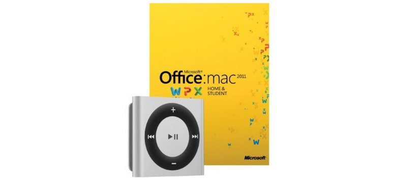 Microsoft Office 2011 Home & Student Mac + iPod shuffle für 125,00 Euro