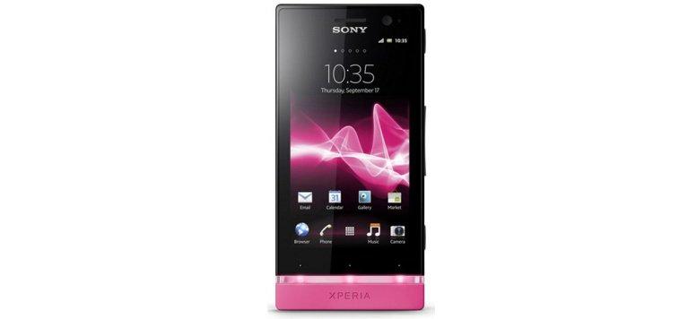 Sony Xperia U in Schwarz/Pink versandkostenfrei für 149,00 statt 168,70 Euro