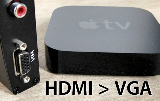 Apple TV 2 und 3 an VGA anschließen: Test Perimac HDMI zu VGA Konverter