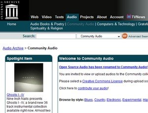 GEMA-freie Musik aus dem Internet-Archive
