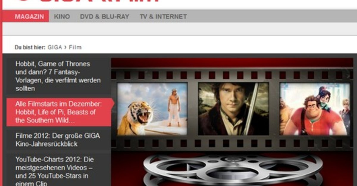 Best of GIGA \\\\ Film 2012: Die Top 10 des Jahres – GIGA