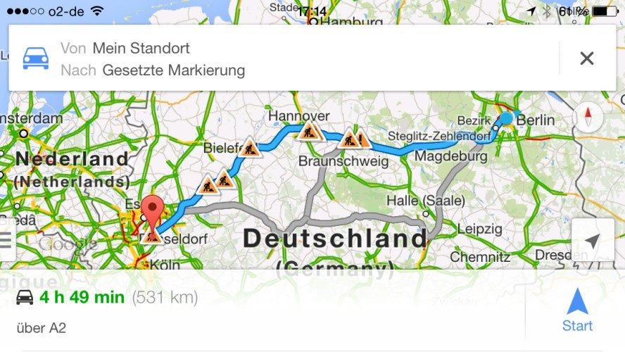 google-maps-iphone-routenplan