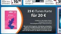 iTunes-Karten reduziert -> 20 Prozent Rabatt für Apps, Software, Musik