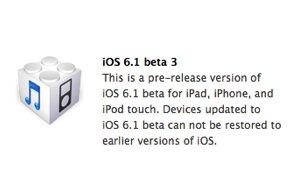iOS 6.1: Apple verteilt dritte Beta an Entwickler