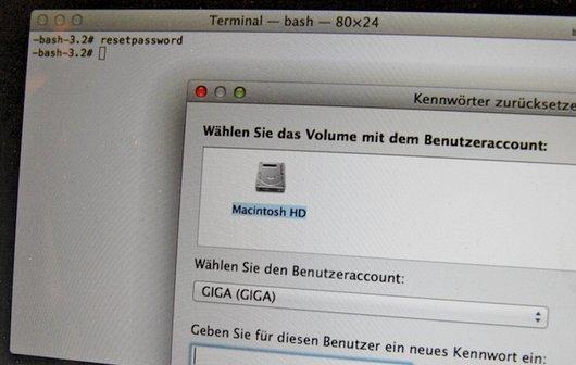 Passwort in OS X 10.8 Mountain Lion und OS X 10.7 Lion zurücksetzen (Tipp)