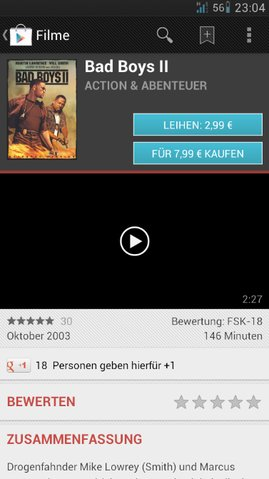 Play Store Filme