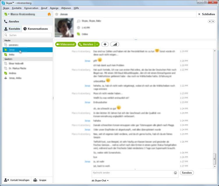 Der Skype Chat als Benutzeroberfläche