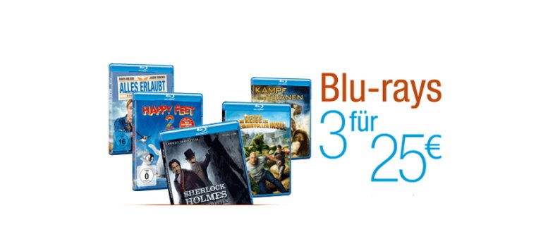 3 Blu-rays für 25 Euro bei Amazon