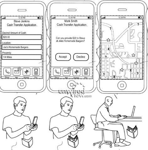Apples Patent für ein Ad-Hoc Geldausgabe-Netzwerks