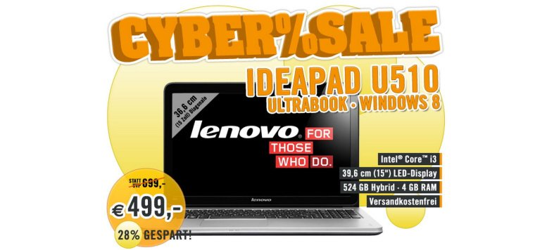 Lenovo IdeaPad U510 für 499,00 statt 699,00 Euro im Cybersale