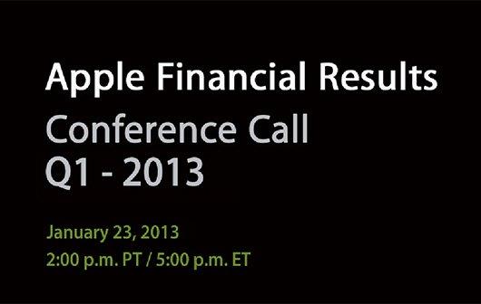 Q1 2013: Apples Quartalskonferenz am 23. Januar