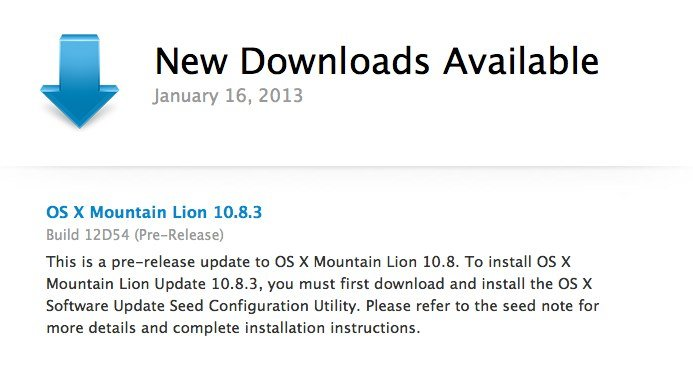 Mountain Lion 10.8.3 build 12D54