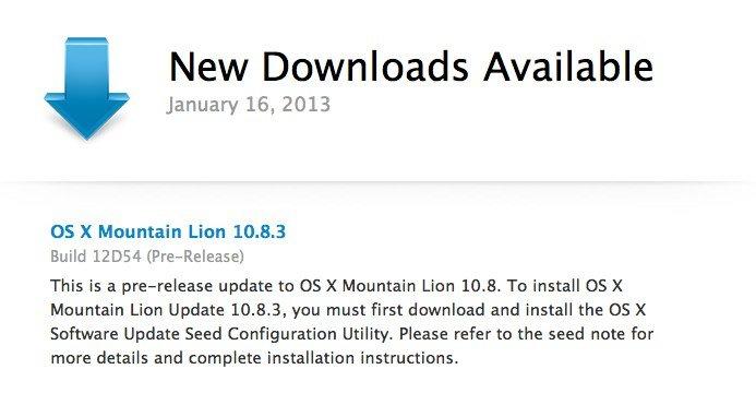 Mountain Lion 10.8.3 build 12D54