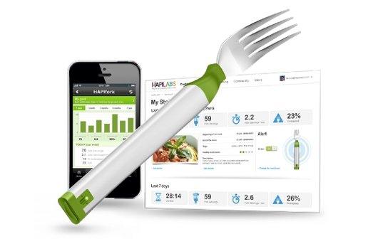 Gabel mit iPhone-App: Hapifork