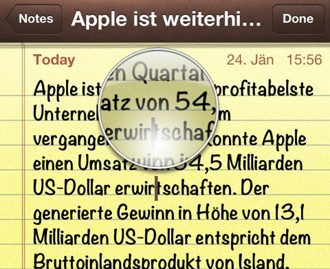 Apples iOS-Lupen-Patent