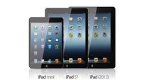 iPad 5 mit Design des iPad mini (Mockups)