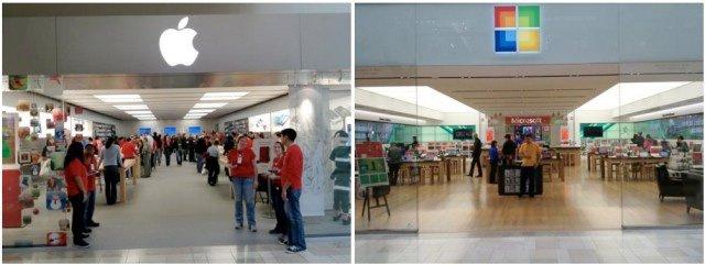 Apple Store vs. Microsoft Store