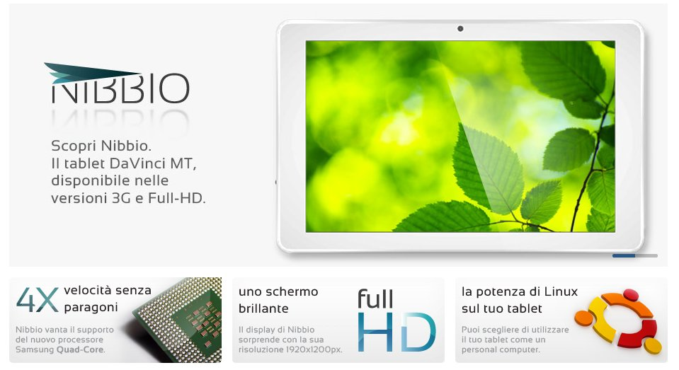 Nibbio: 10-Zoll-Tab mit Full-HD, Quad-Core und Android/Ubuntu-Dualboot