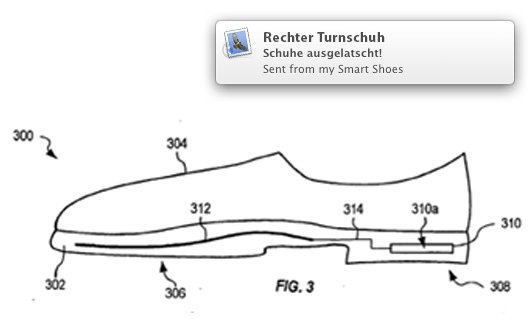 Apple Smart Shoe Patentantrag