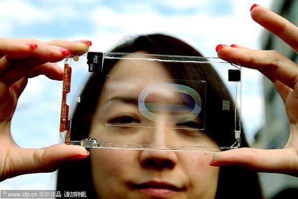 Polytron Technologies: Bilder eines transparenten Smartphones