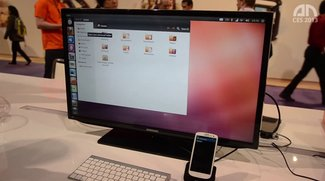 Ubuntu auf dem Samsung Galaxy S3 - Hands-On - CES 2013
