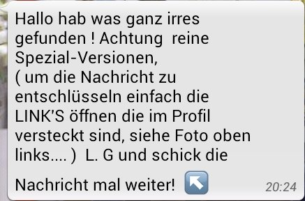 Spam bei Whatsapp